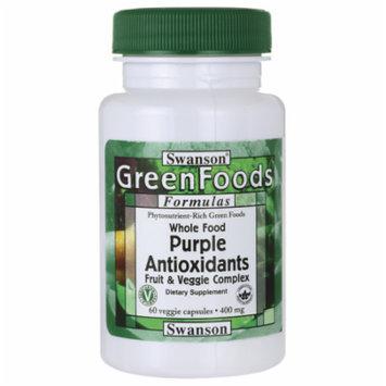 Swanson Whole Food Purple Antioxidants Fruit & V 400 mg 60 Veg Caps