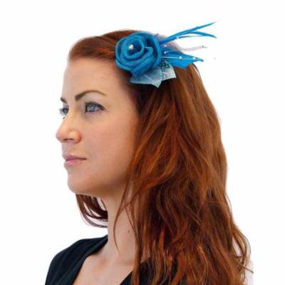 Greatlookz It Girl Sinamay Style Hair Clip or Pin with Feathers
