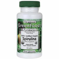 Swanson 100% Certified Organic Spirulina 500 mg 180 Tabs