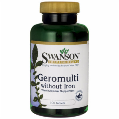 Swanson Geromulti without Iron (Multivitamin for 100 Tabs