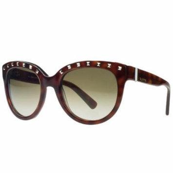 Valentino V659/S 725 Blonde Havana Square Sunglasses