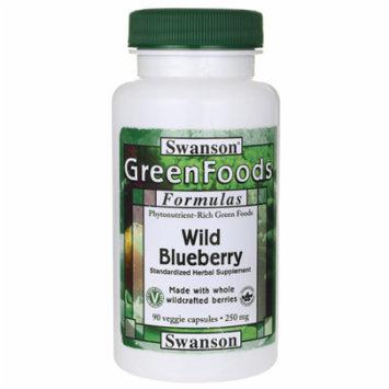 Swanson Wild Blueberry 250 mg 90 Veg Caps