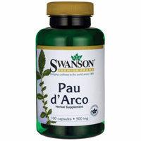 Swanson Pau d'Arco 500 mg 100 Caps