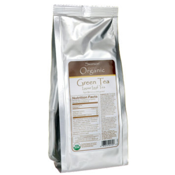Swanson Certified Organic Loose Leaf Green Tea 3.5 oz (100 grams) Pkg