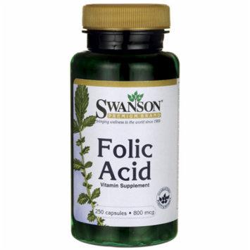 Swanson Folic Acid 800 mcg 250 Caps
