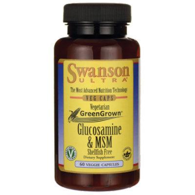 Swanson Vegetarian Glucosamine & Msm 60 Veg Caps