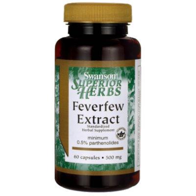 Swanson Feverfew Extract 500 mg 60 Caps