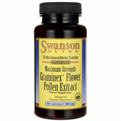 Swanson Max-Strength Graminex Flower Pollen Ext 500 mg 60 Caps