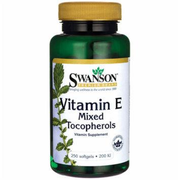 Swanson Vitamin E Mixed Tocopherols 200 Iu 250 Sgels