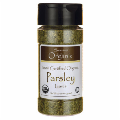 Swanson 100% Certified Organic Parsley Leaves 0.5 oz (14.2 grams) Flakes