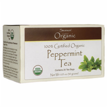 Swanson 100% Certified Organic Peppermint Tea 20 Bag(S)