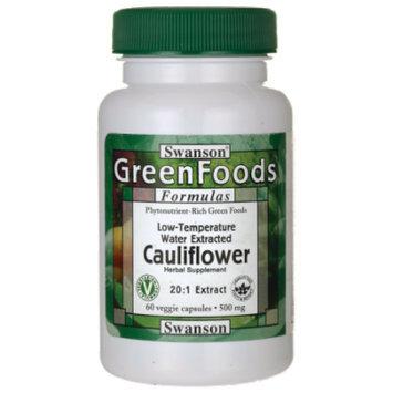 Swanson Cauliflower 20:1 Extract 500 mg 60 Veg Caps