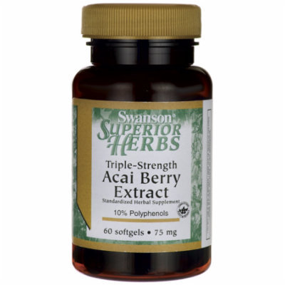 Swanson Acai Berry Extract Triple-Strength 75 mg 60 Sgels
