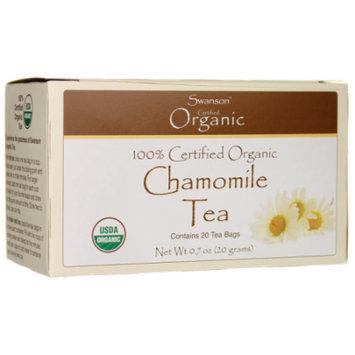 Swanson 100% Certified Organic Chamomile Tea 20 Bag(S)