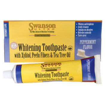 Swanson Whitening Toothpaste with Xylitol, Peelu 7 oz (198 grams) Paste
