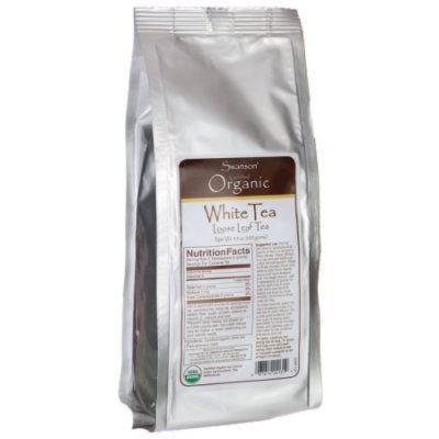 Swanson Certified Organic Loose Leaf White Tea 3.5 oz (100 grams) Pkg