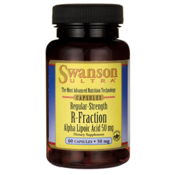 Swanson Regular Strength R-Fraction Alpha Lipoic 50 mg 60 Caps