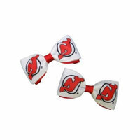 New Jersey Devils Hair Bow Pair