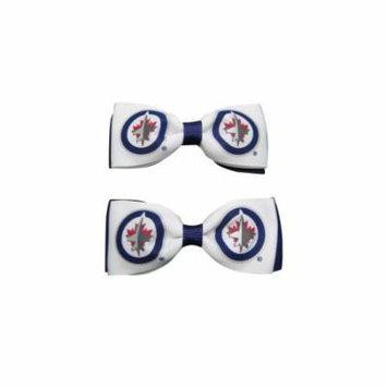 Winnipeg Jets Hair Bow Pair