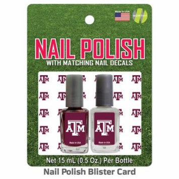 Texas A University Nail Polish Team Colors and Nail Decals