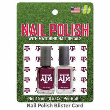 Texas A University Nail Polish Team Colors and Nail Decals