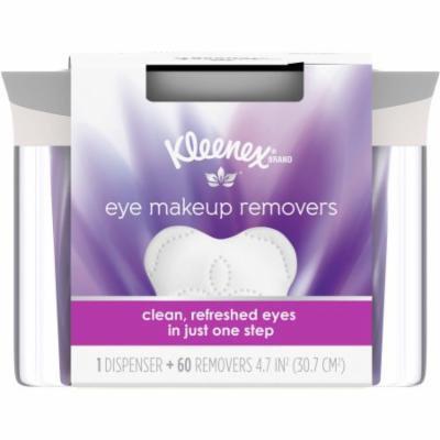 Kleenex Moist Eye Makeup Remover, Refillable Dispenser & Removers