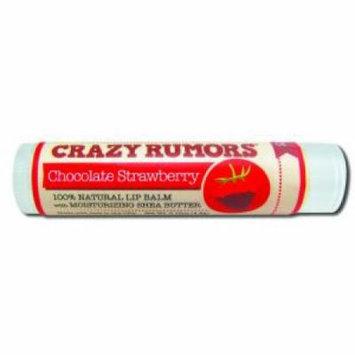 Crazy Rumors - Lip Balm, Chocolate Strawberry .15 oz