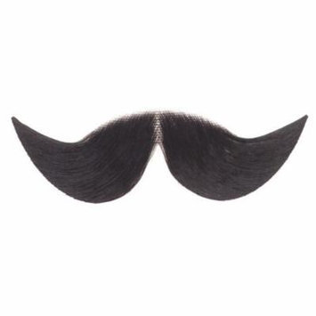 Loftus Men Real Human Hair Dapper Moustache, Black, Medium
