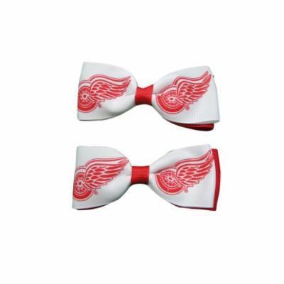 Detroit Red Wings Hair Bow Pair