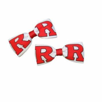 Rutgers University Hair Bow Pair