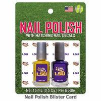 Louisiana State LSU Nail Polish Team Colors and Nail Decals