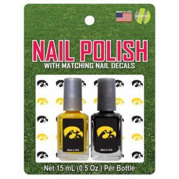 University of Iowa Nail Polish Team Colors and Nail Decals