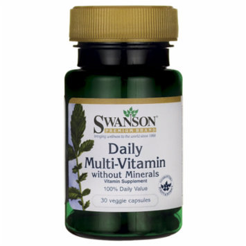 Swanson Daily Multivitamin without Minerals 30 Veg Caps