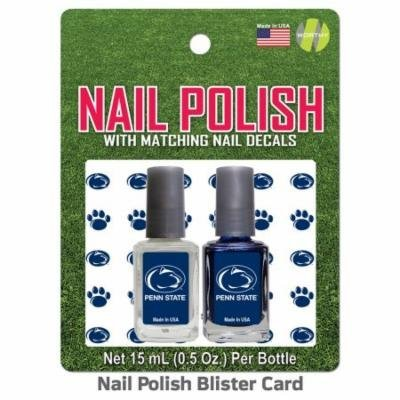 Penn State Nail Polish Team Colors and Nail Decals
