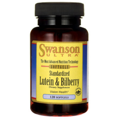 Swanson Standardized Lutein & Bilberry 120 Sgels