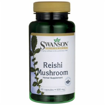 Swanson Reishi Mushroom 600 mg 60 Caps