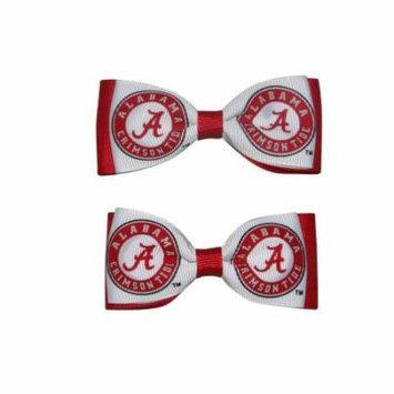 University of Alabama Hair Bow Pair