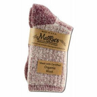 Maggies Organics - Killington Mountain Hiker Socks, Raspberry 9-11