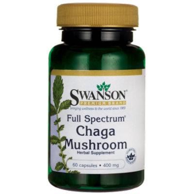 Swanson Full Spectrum Chaga Mushroom 400 mg 60 Caps