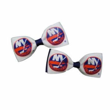 New York Islanders Hair Bow Pair