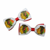 Chicago Blackhawks Hair Bow Pair