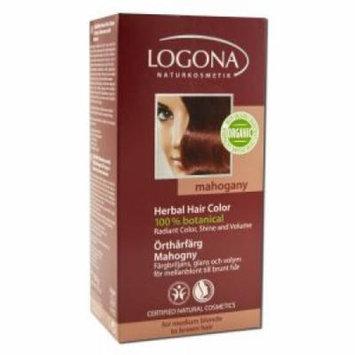 Logona - Herbal Hair Color Powders, Mahogany 3.5 oz