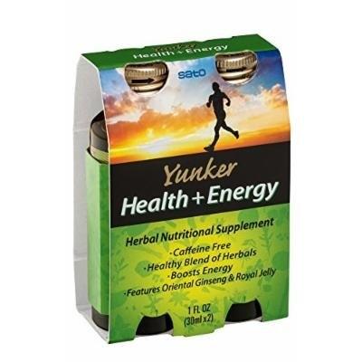 Yunker Health Energy Herbal Supplement, 2 Fluid Ounce