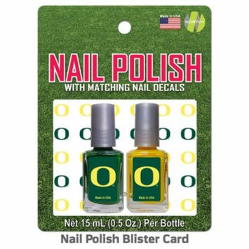 University of Oregon Nail Polish Team Colors and Nail Decals