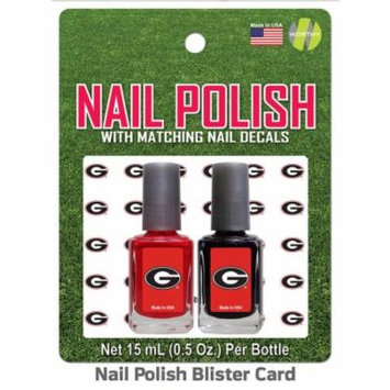 University Of Georgia Nail Polish Team Colors and Nail Decals