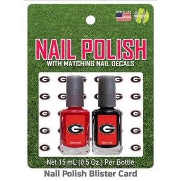 University Of Georgia Nail Polish Team Colors and Nail Decals