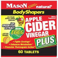 BodyShapers, Apple Cider Vinegar Plus, with EGCG & Bitter Orange, 60 Tablets, Mason Natural