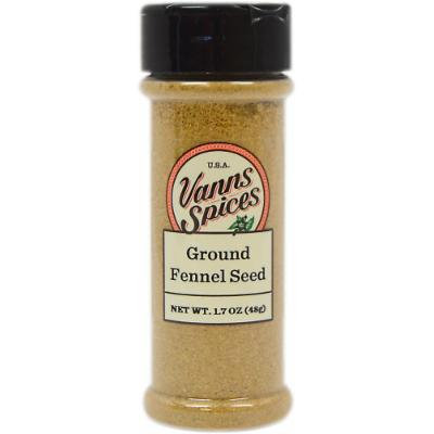 Vanns Ground Fennel Seed-1.7 oz Bottle