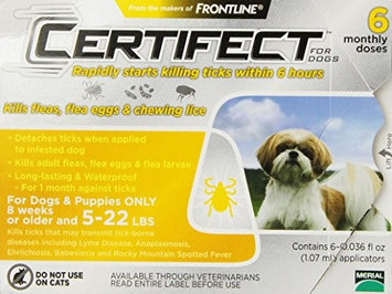 Certifect for Dogs 5-22 lbs 6 month supply