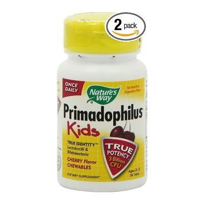 Nature's Way Primadophilus Chewables for Kids, Cherry, 2 Count